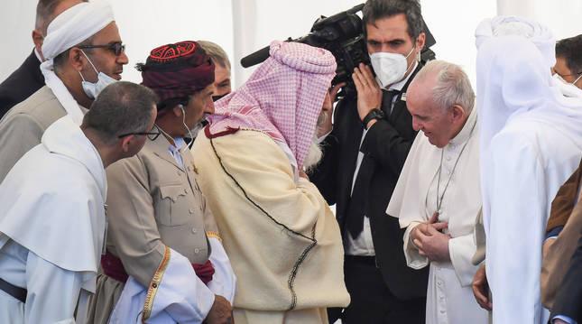 El papa Francisco en su visita a Irak, este sábado.