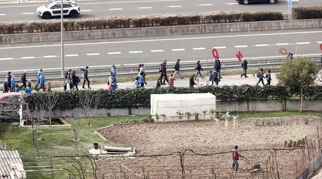 Marcha de los trabajadores de MTorres para protestar contra el ERE.