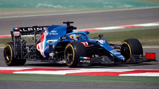 Fernando Alonso, en Baréin.
