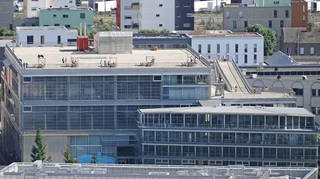 La escuela de arquitectura de Nantes.