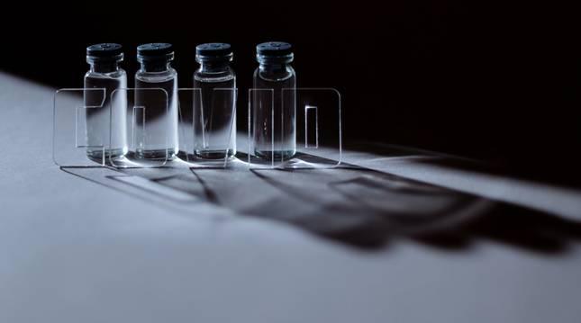 Viales de las dosis de la vacuna contra la covid-19