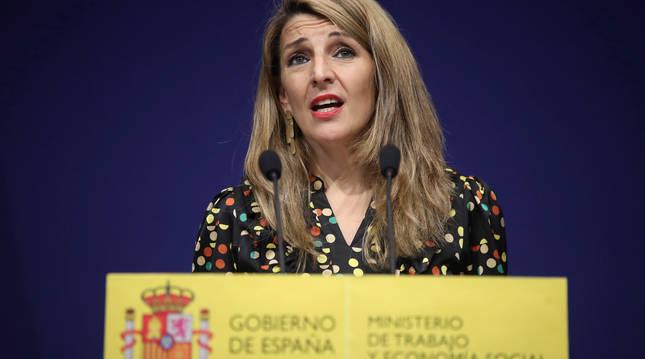 Foto de Yolanda Díaz, ministra de Trabajo y Economía Social.