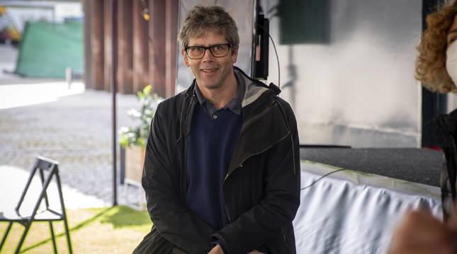 Anders Edström durante la presentación de su película 'The works and days'