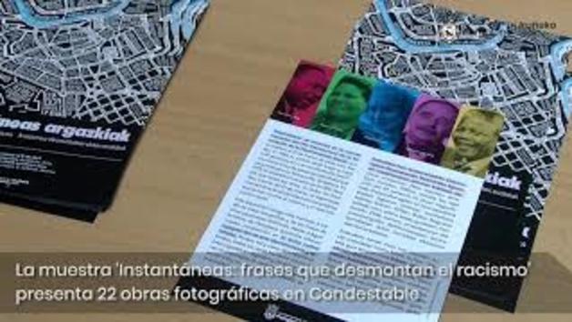 """Vídeo de la exposición """"Instantáneas: frases que desmontan el racismo"""""""