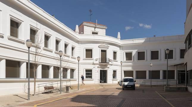Estado actual del céntrico edificio Lestonnac de Tudela, tras las obras de reforma llevadas a cabo.