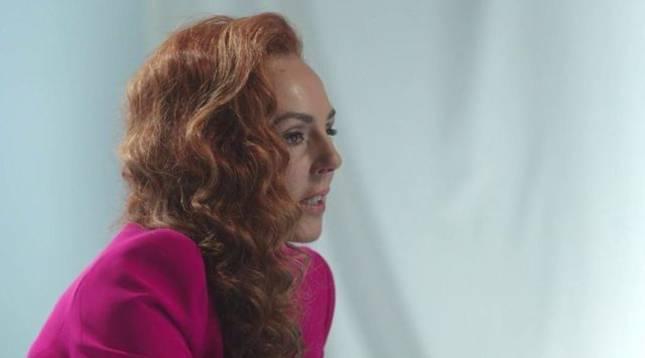 Rocío Carrasco, durante su entrevista en Telecinco.