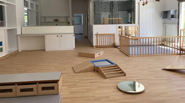 Interior de la escuela infantil Egoiz Eder.