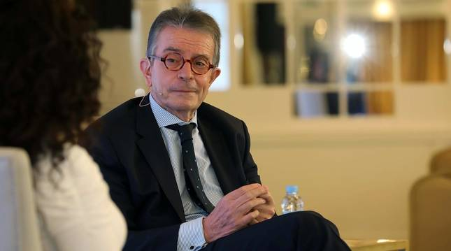 El empresario navarro Antonio Catalán, presidente de AC Hoteles by Marriott, participó en la primera cita organizada por Diario de Navarra y celebrada el 23 de marzo en el hotel Tres Reyes de Pamplona.