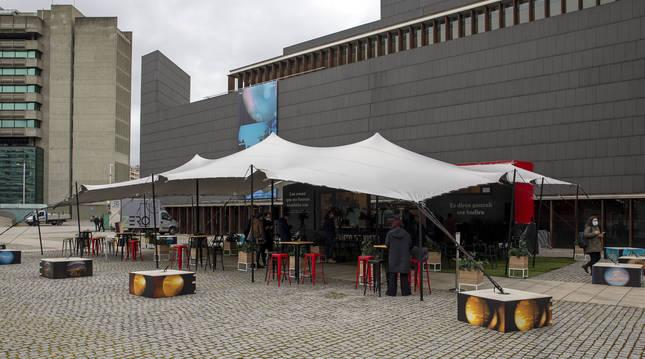 La Plaza, el nuevo escenario del festival Punto de Vista que se habilitó en la Plaza del Baluarte.