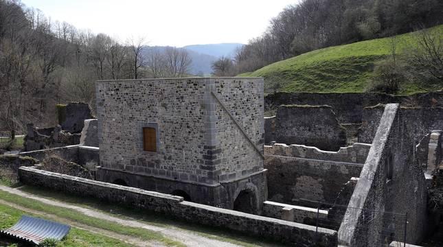 Imágenes del estado en el que ha quedado la Fábrica de Armas de Orbaizeta tras su restauración