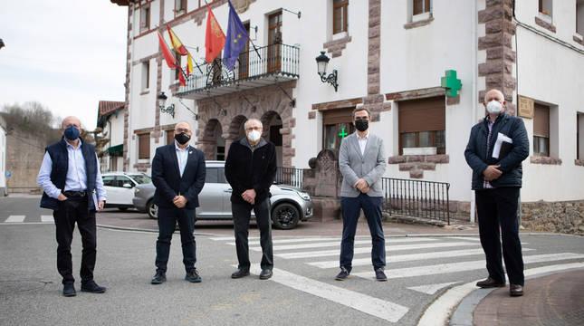 De izda a derecha: Castro, Cigudosa, Camino, Garmendia y Bidegain.