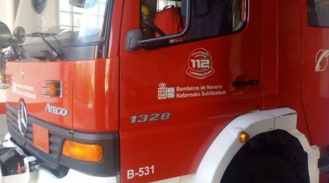 Un camión de Bomberos de Navarra.