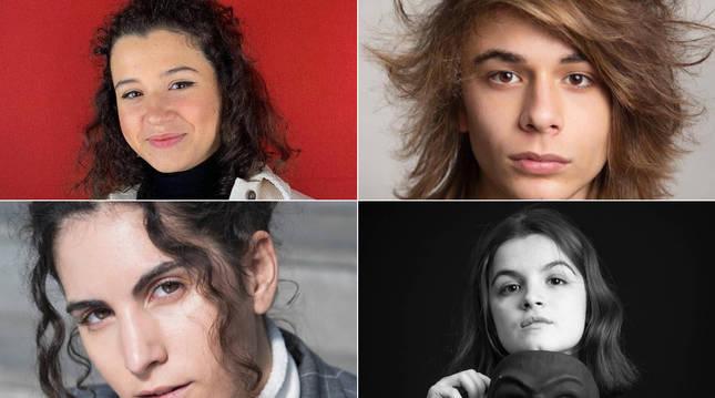 Foto de Iratxe Pascual, Asier Rikarte, Samira Suleimanova y Ariane Berrozpide Berrueta.