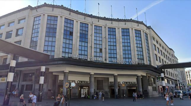 Estación central de Bruselas.