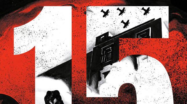 Portada del cómic '15' de David Muñoz y Andrés G. Leiva.