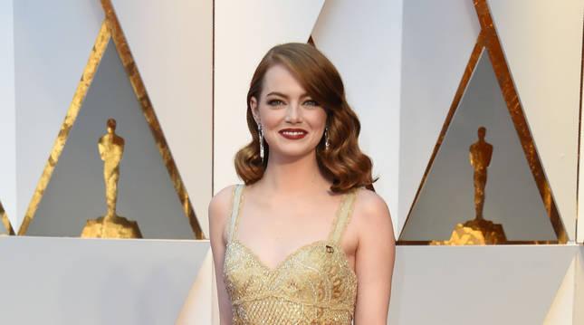 Foto de Emma Stone, en los Oscar de 2017.