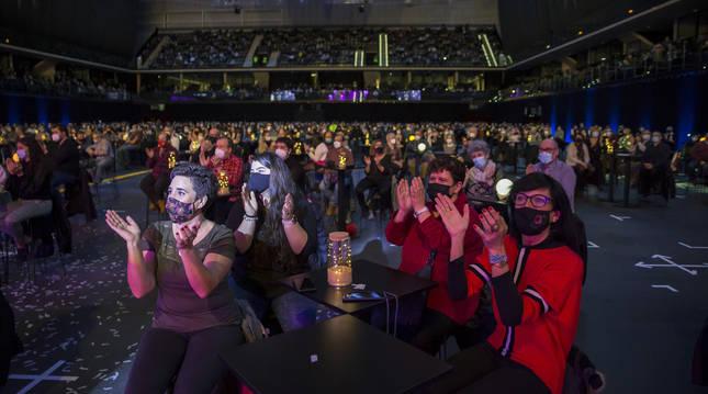 Público en el Navarra Arena en el concierto  de música mexicana que tuvo lugar en diciembre de 2020.