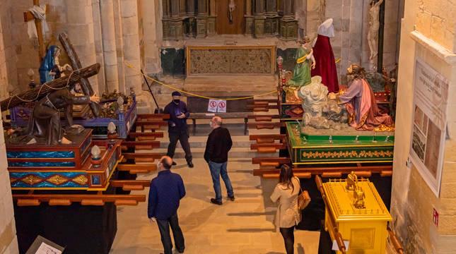 Foto del interior del Santo Sepulcro de Estella.