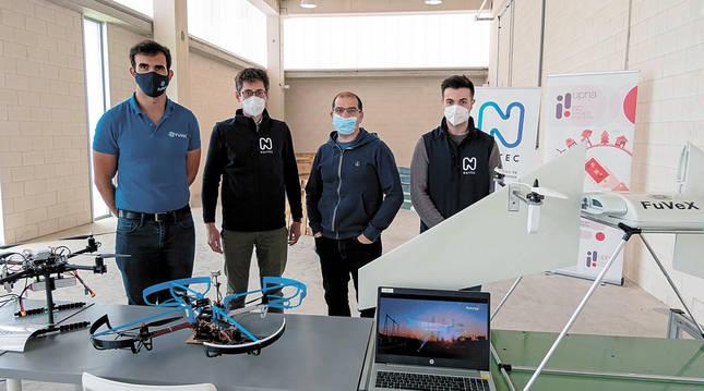 Una 'ITV' para drones amplía los horizontes en el Ctel de Estella