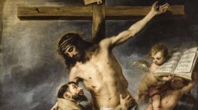 Cuadro 'San Francisco abrazando a Cristo en la cruz', de Bartolomé Esteban Murillo.