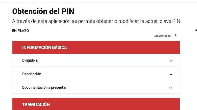 En la web de Hacienda se pueden hacer los trámites para obtener el PIN: