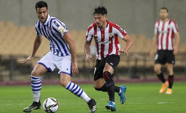 La Real Sociedad se proclamó campeona de la Copa del Rey de la pasada temporada, aplazada por la pandemia de coronavirus, al ganar por 0-1 al Athletic Club con un gol de penalti marcado por Mikel Oyarzábal.