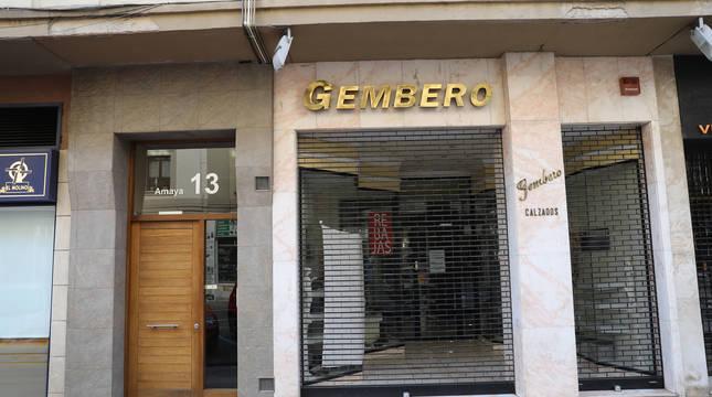 Calzados Gembero, en la calle Amaya de Pamplona.