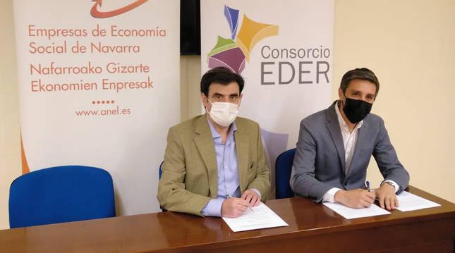 El presidente ANEL, Ignacio Ugalde, junto al gerente del Consocio Eder, Sergio Villava