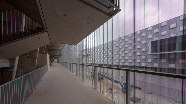 Uno de los nuevos pasillos de El Sadar en la parte sur.