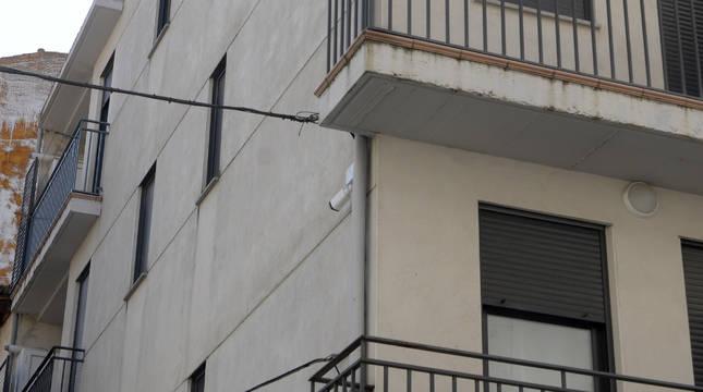 Una de las cámaras instaladas en Peralta.