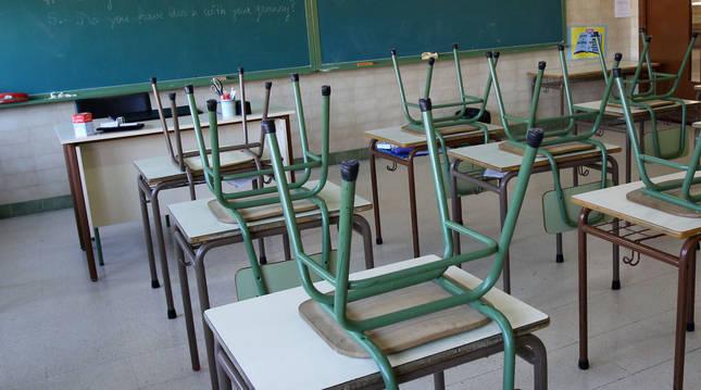Foto de un aula vacía.