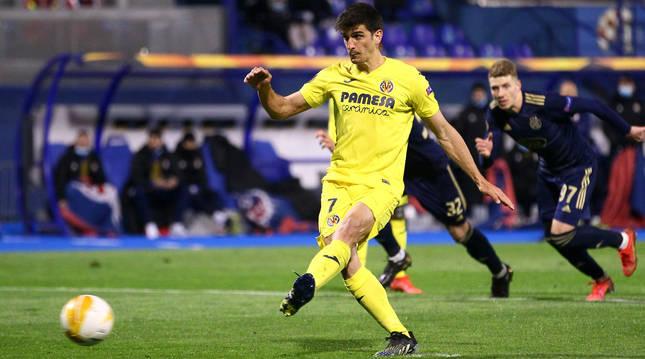 Gerard Moreno marcó el gol de la victoria del Villarreal ante el Dinamo de Zagreb