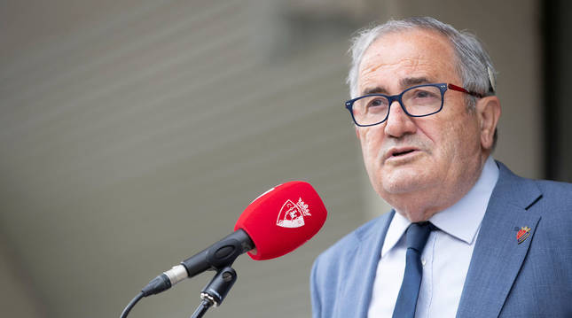 Foto del presidente de Osasuna Luis Sabalza.