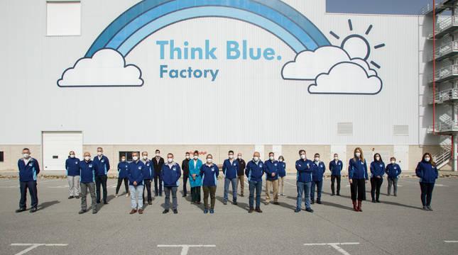 Equipo de Think Blue Factory de Volkswagen Navarra.