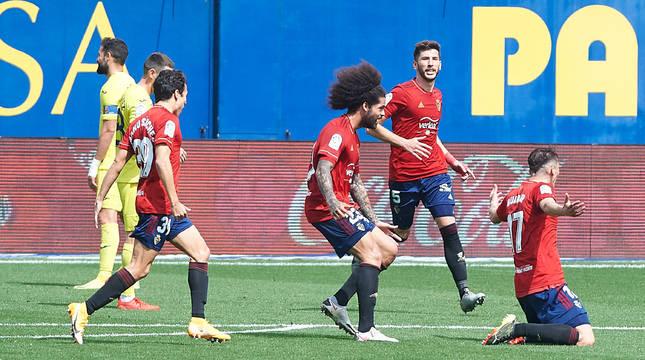Budimir, tras marcar el segundo gol de Osasuna.