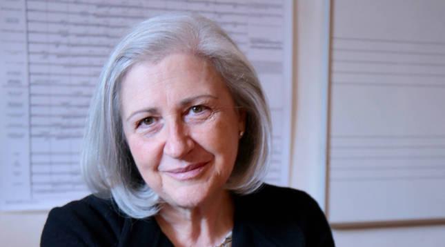 La compositora navarra Teresa Catalán.