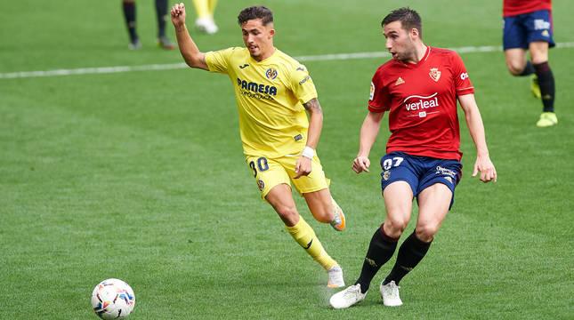 Moncayola, en el partido contra el Villarreal.