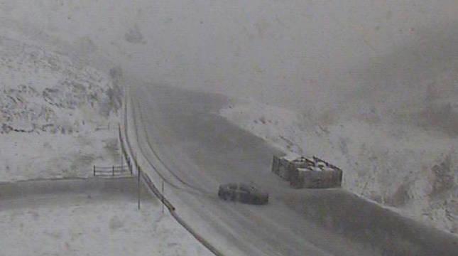Imagen de la webcam del Gobierno de Navarra tomada este domingo a las