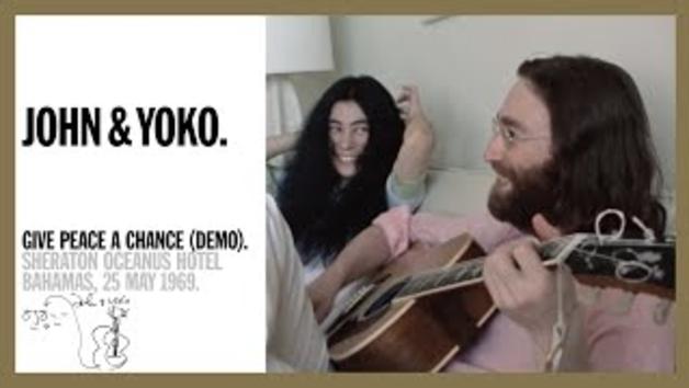 Primer vídeo de 'Give Peace A Chance' de John Lennon y Yoko Ono