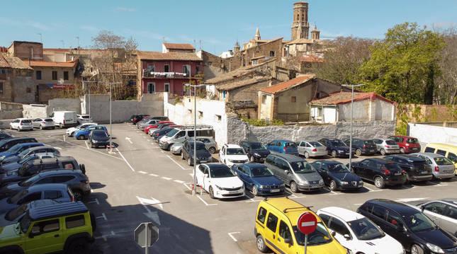 Imagen actual del parking Terraplén de Tudela.