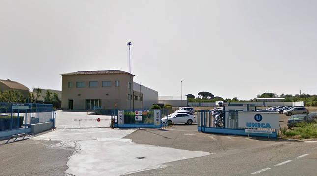Entrada de la factoría de UNICA en Corella.