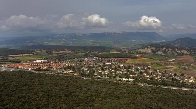 Vista de urbanizaciones de Irache, en Ayegui (Navarra).