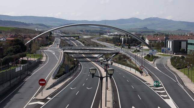 Nudo de entrada a Zizur Mayor (Navarra).