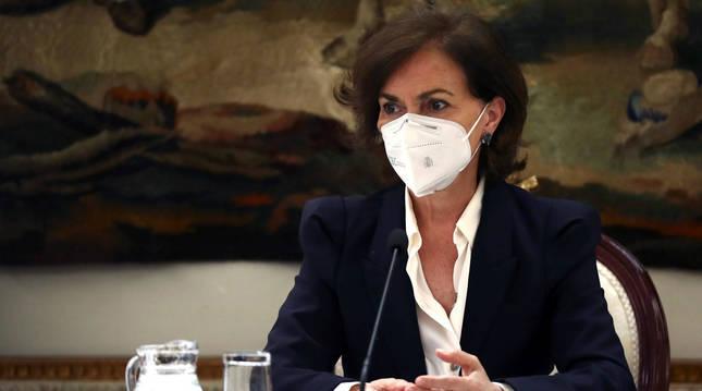 Foto de Carmen Calvo, vicepresidenta primera del Gobierno de España.