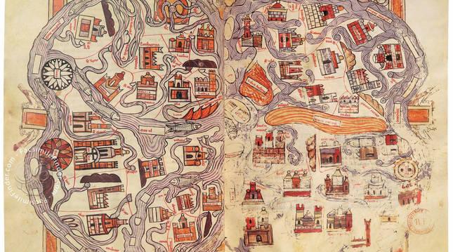 Foto del mapa del llamado Beato navarro.