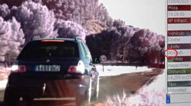 Imputado un conductor por circular a 179 km/h en la carretera Allo-Sesma
