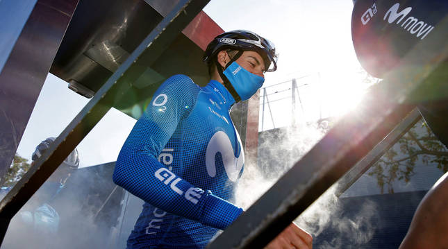 Foto del ciclista Enric Mas, en la Vuelta a la Comunidad Valenciana.