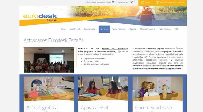 Portal de Eurodesk España.