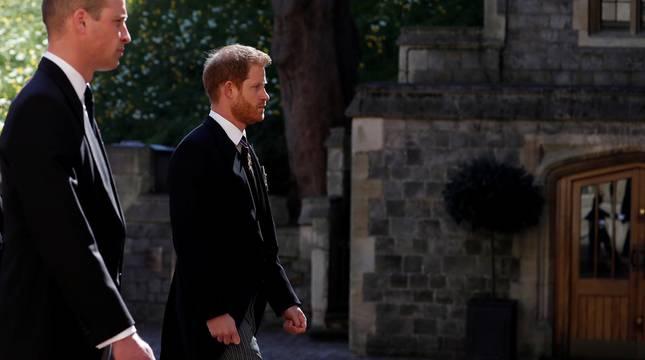 Fotos del funeral del duqeud e Edimburgo, celebrado este sábado en la capilla de San Jorge