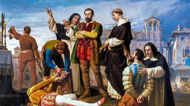 Ejecución de los comuneros de Castilla, cuadro de Antonio Gisbert.